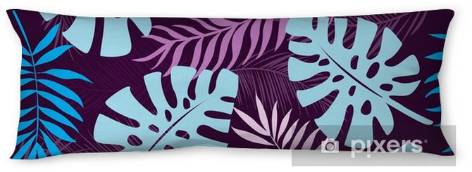 tropical leaves seamless pattern background Body Pillow - Plants and Flowers