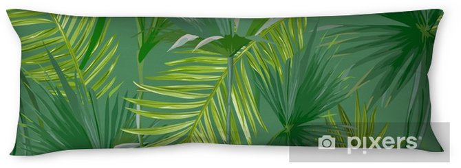 Tropical Palm Leaves, Jungle Leaves Seamless Vector Floral Pattern Background Body Pillow - Plants and Flowers