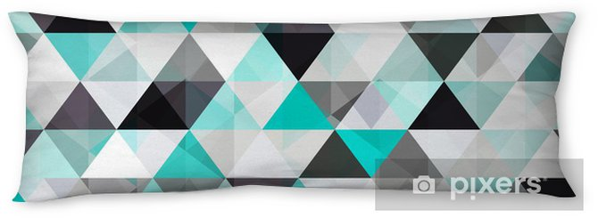 turquoise shiny vector background Body Pillow - Styles
