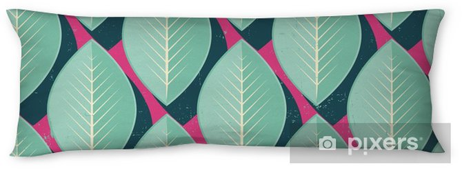 Vector Colorful abstract retro seamless geometric pattern Body Pillow - Flowers and plants