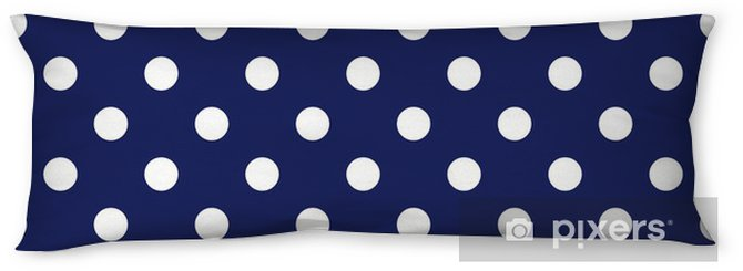 Vector seamless pattern with polka dots on navy background Body Pillow - Themes