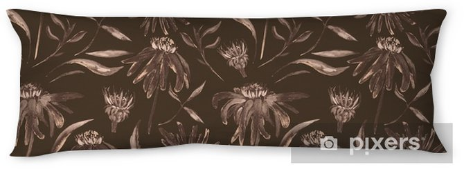 Vintage flower pattern Body Pillow - Graphic Resources