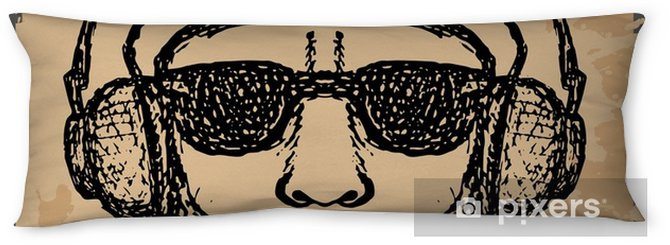 vintage Illustration of hipster style, vector illustration on th Body Pillow - Lifestyle