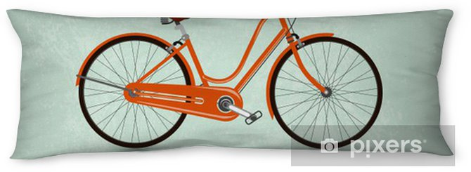 Vintage Retro Bicycle Background Body Pillow