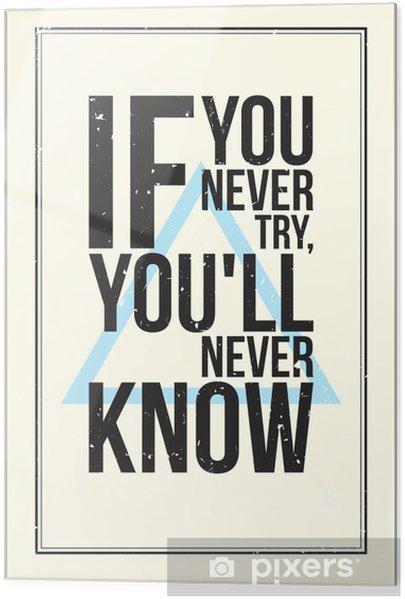 Cama baskı İlham motivasyon posteri. grunge tarzı - Genç erkek odası