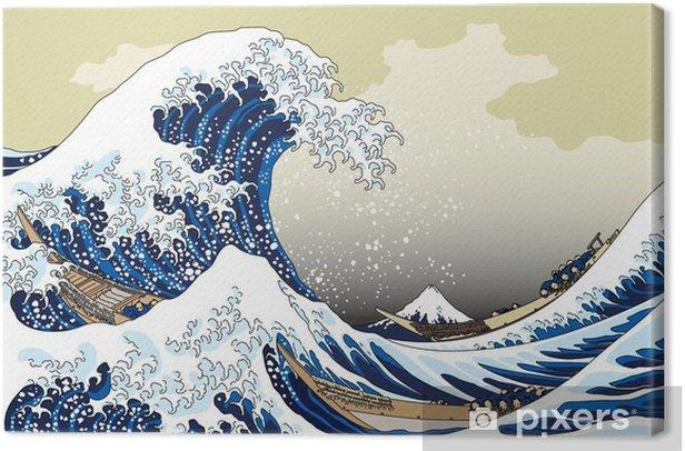 Canvas 富 嶽 三 十六 景 神奈川 沖浪 - Landschappen