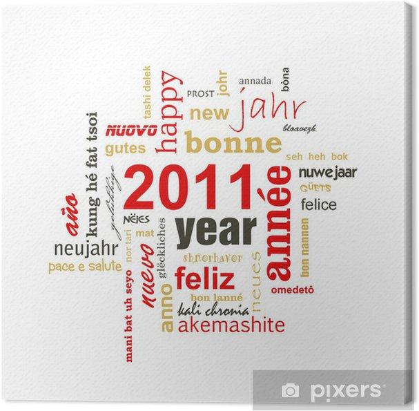 Canvas 2011 Gelukkig Nieuwjaar In Alle Talen Pixers We Leven Om