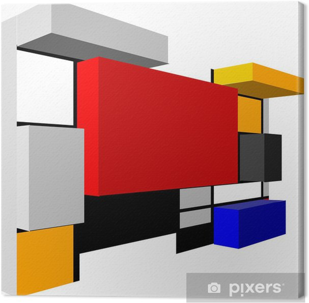 Canvas 3D Naadloze abstracte geometrische kleurrijke vector patroon voor conti - Achtergrond