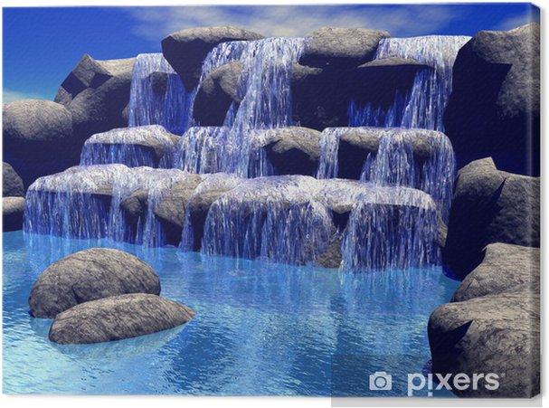 Canvas 3d waterval - Stijlen
