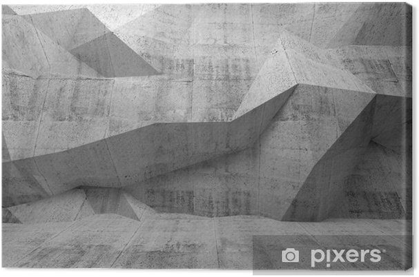 Canvas Abstract donker beton 3D interieur - Thema's