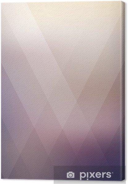 Canvas Abstract geometrische paarse veelhoekige achtergrond. vector illustratie - Grafische Bronnen