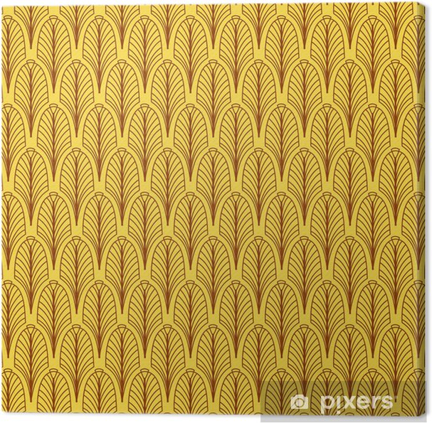 Canvas Abstract geometrische patroon, art deco stijl. - Tekens en Symbolen
