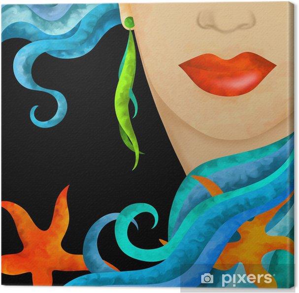 Canvas Abstract gezicht - Thema's