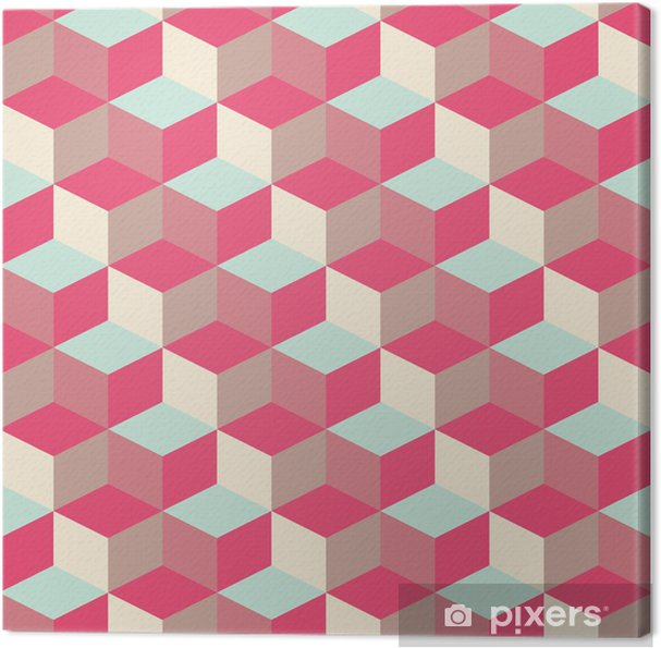Canvas Abstract kubieke geometrische patroon achtergrond - Thema's