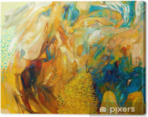 Canvas Abstract Olieverfschilderij - Thema's