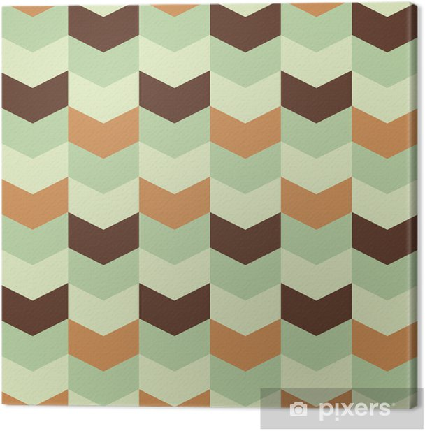 Canvas Abstract retro geometrisch patroon - Abstract