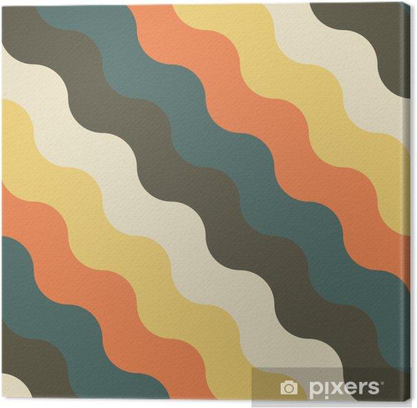 Canvas Abstract retro geometrisch patroon - Achtergrond
