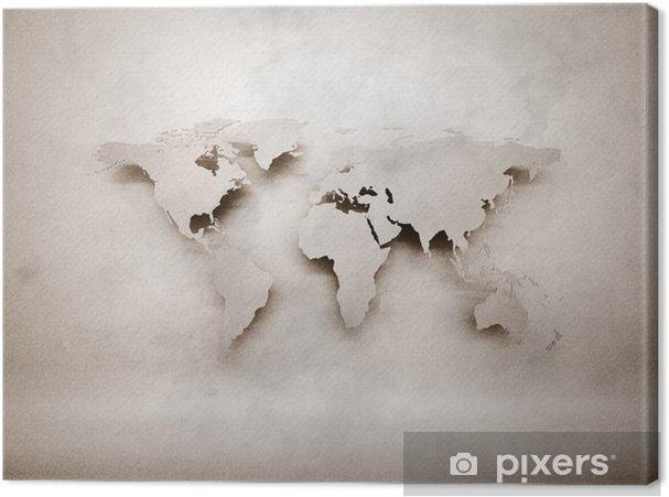 Canvas Abstracte 3d grunge wereldkaart - Stijlen