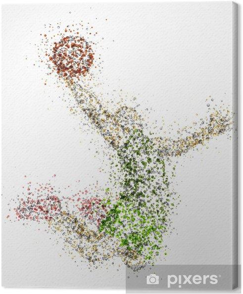 Canvas Abstracte basketbalspeler - Basketbal