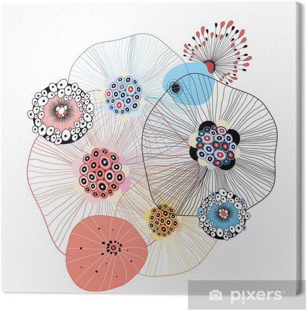 Canvas Abstracte elementen - Abstract