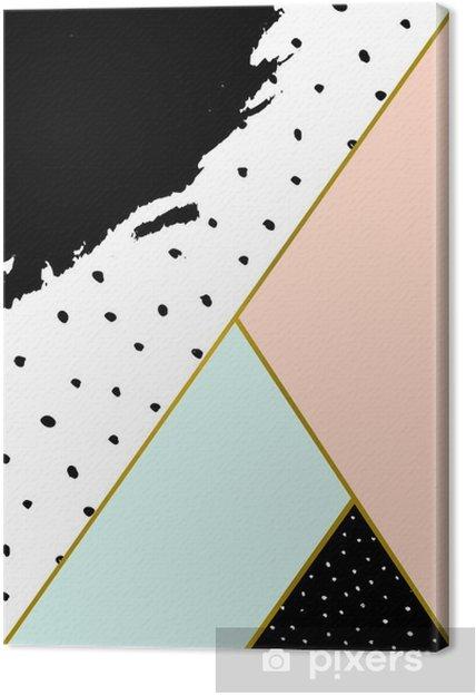 Canvas Abstracte Geometrische compositie. - Grafische Bronnen
