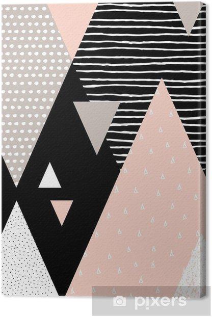 Canvas Abstracte Geometrische Landschap -