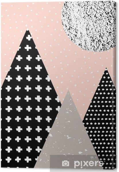 Canvas Abstracte Geometrische Landschap - Grafische Bronnen