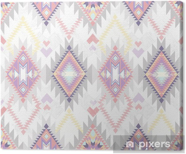 Canvas Abstracte geometrische naadloze aztec patroon. - Stijlen