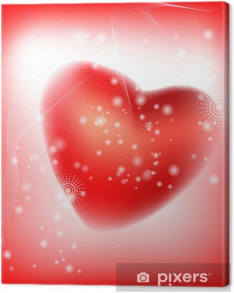 Canvas Abstracte hart. vectorillustratie - Achtergrond