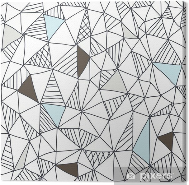 Canvas Abstracte naadloze doodle patroon - Business