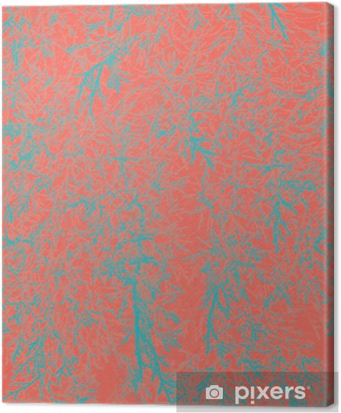 Canvas Abstracte natuurlijke bladeren achtergrond. levend koraal, creatieve en humeurige kleur van de foto. - Grafische Bronnen