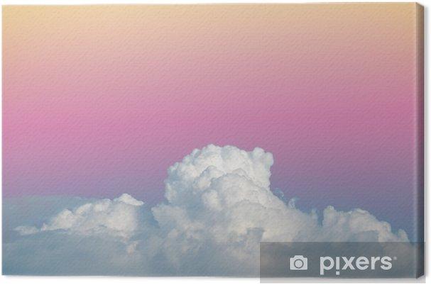Canvas Abstracte zachte wolkenhemel met verloop pastel vintage kleur voor achtergrond gebruik - Grafische Bronnen