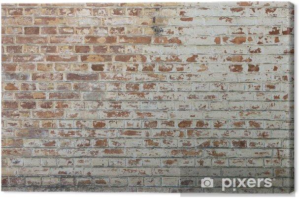 Canvas Achtergrond van oude vintage vuile bakstenen muur met peeling gips - Thema's