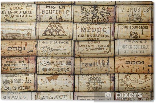 Canvas Achtergrond van wijnkurken - iStaging