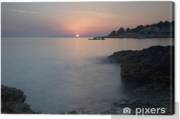 Canvas Adriatische k - Vakantie