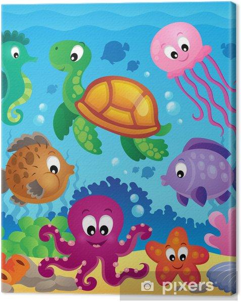 Canvas Afbeelding met onderzeese thema 7 - Thema's