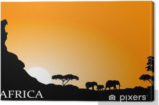 Canvas Afrikaanse savanne - Achtergrond