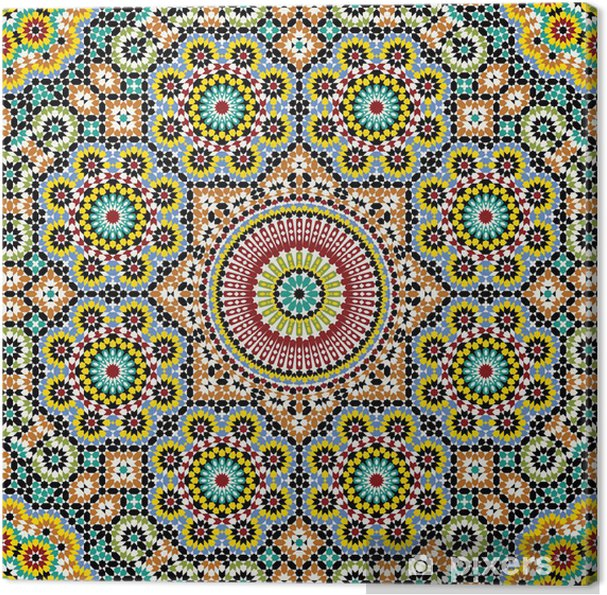 Canvas Akram Marokko Patroon Drie - Mozaïek
