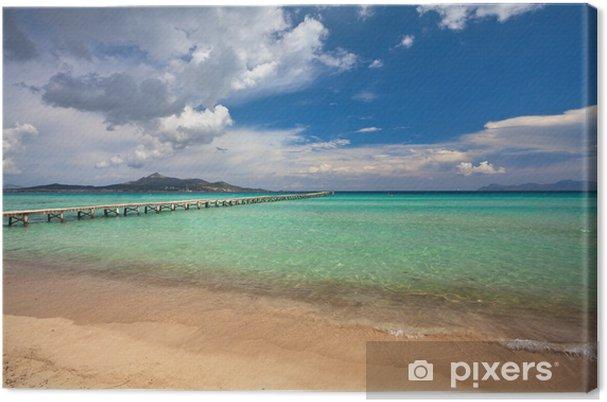 Canvas Alcudia strand, Mallorca - Europa