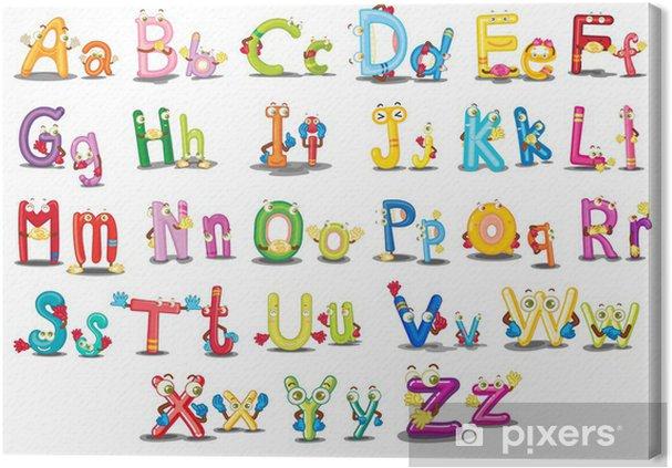 Canvas Alfabet tekens - Thema's