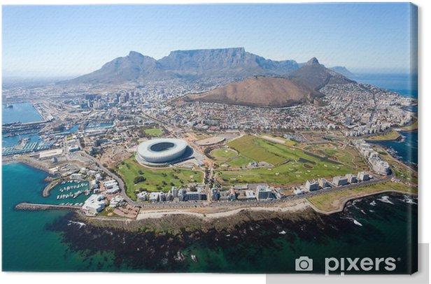 Canvas Algemene luchtfoto van Kaapstad, Zuid-Afrika - Bestemmingen