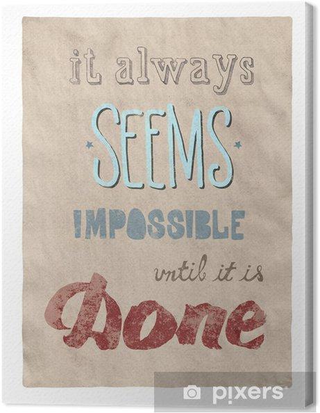 Canvas Alles is mogelijk poster - Zakelijke Concepten