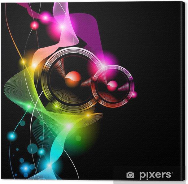 Canvas Alternatieve Disco Flyer voor International Event -