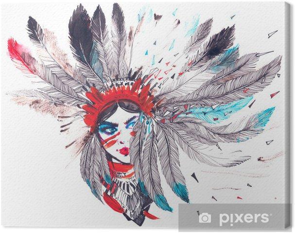 Canvas Amerikaanse Indiaan - Reizen