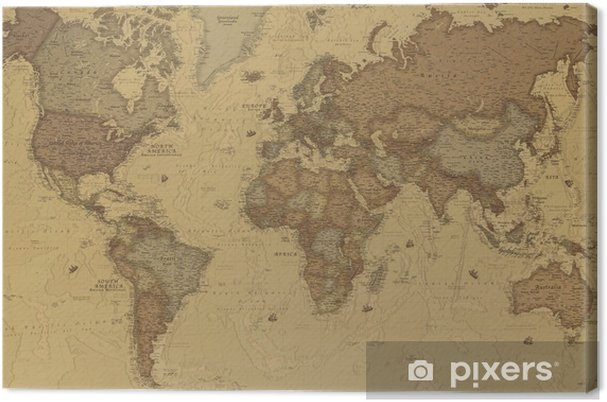 Canvas Ancient World map - iStaging