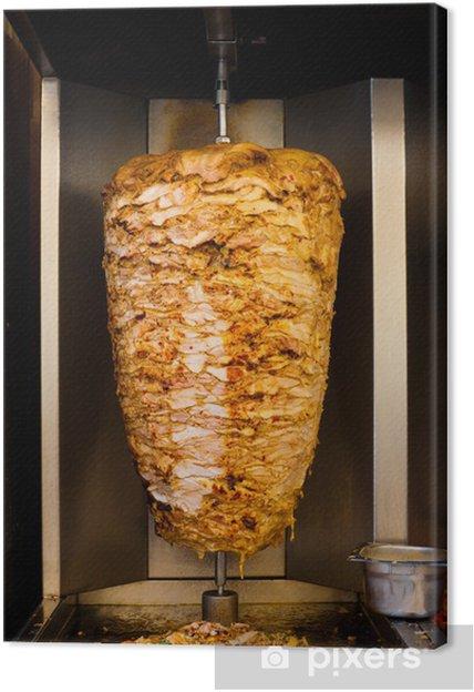 Canvas Arabisch Chicken Spit Koken shoarma vlees - Midden Oosten