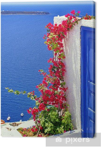 Canvas Architectuur op het eiland Santorini, Griekenland - Thema's