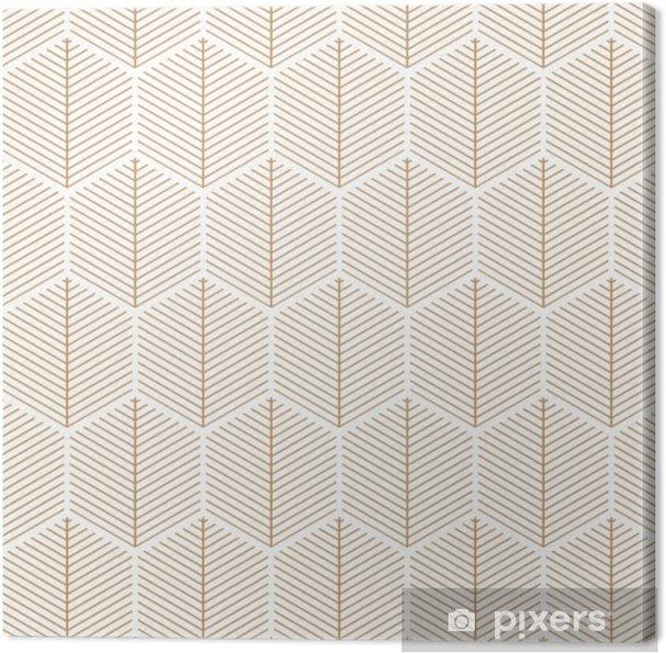 Canvas Art deco, elegant, retro, vector patroon. - Grafische Bronnen