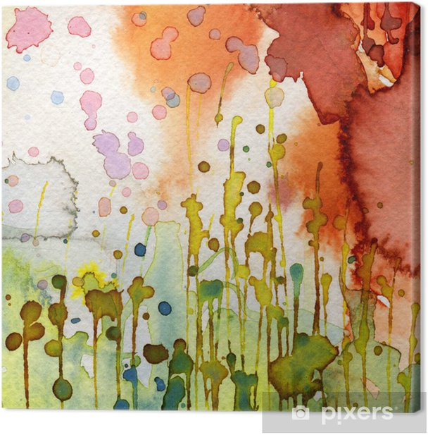 Canvas Artistieke achtergrond aquarel, -