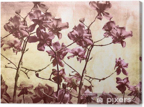Canvas Artistieke achtergrond met magnolia - Thema's
